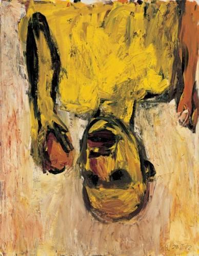 Georg Baselitz, Orangenesser (1982), Olio su tela, 146x114 cm