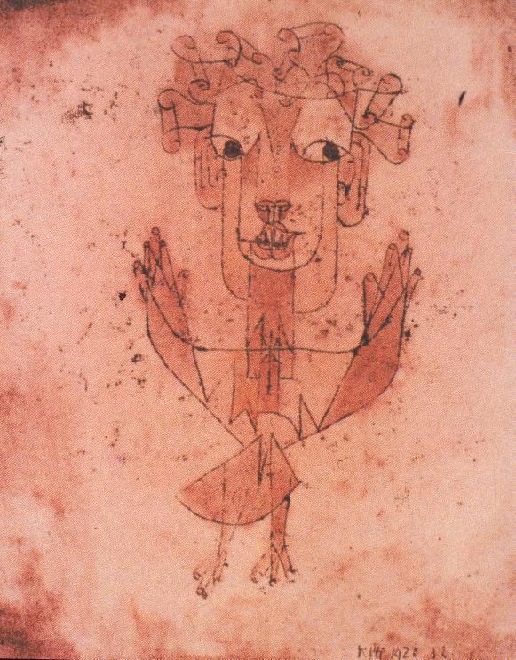 Paul Klee, Angelus Novus, acquerello 1920