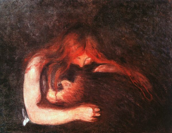 "Edvard Munch, ""Love and pain"" (meglio noto come ""The vampire""), 1893-94"