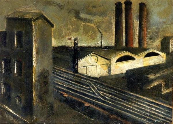 Ignazio Sironi, Pesaggio urbano (1922)