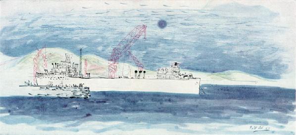 La nave prima di entrare in bacino